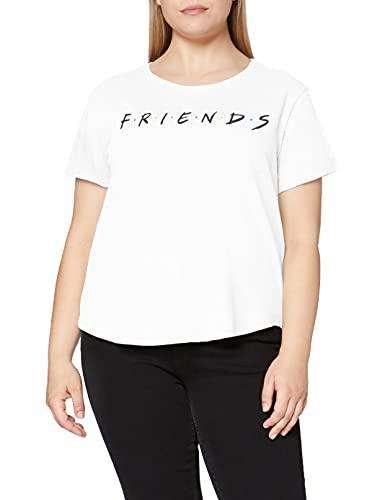 Friends Titles Camiseta, Blanco, S para Mujer