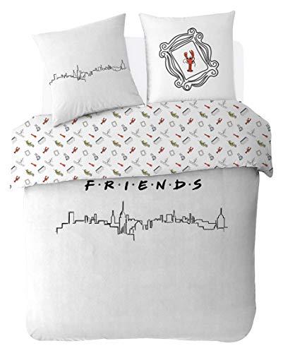 Friends Juego de Cama de 200 x 200 cm, 100%...