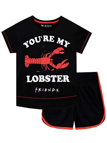 FRIENDS Pijamas para Niñas Negro 11-12 años