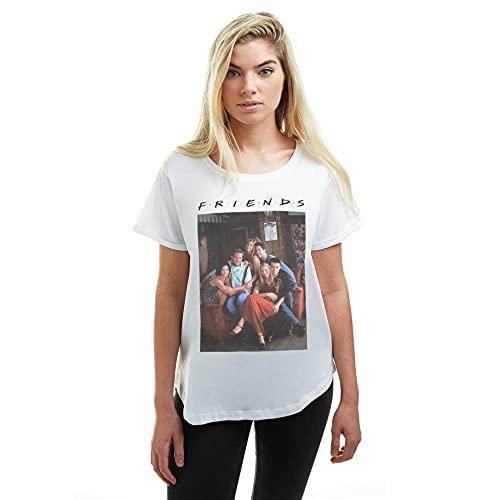Friends Characters Camiseta, Blanco (White White),...