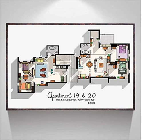 FGVB Friends TV Series Apartment 19 & 20 Poster...
