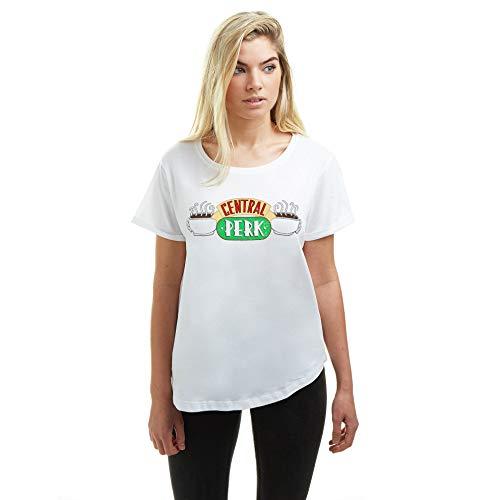 Friends Central Perk Camiseta, Blanco (White...