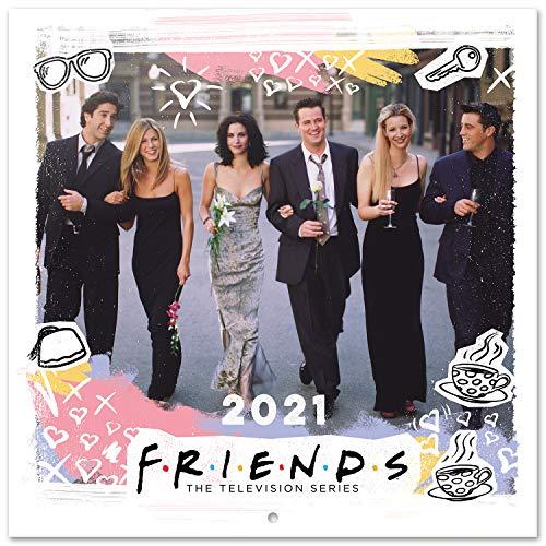 ERIK - Calendario de pared 2021 Friends, 30x30 cm,...