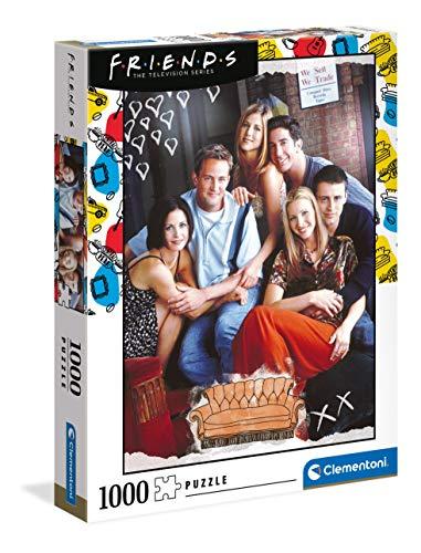 Clementoni- PZL 1000 Friends Puzzle Adulto,...