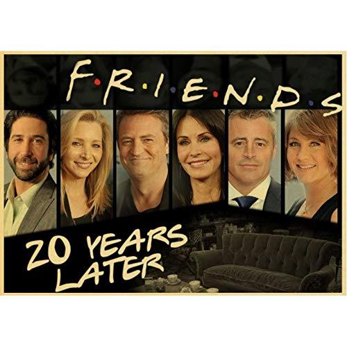 TV Series Friends Retro Poster Prints Canvas Mural...