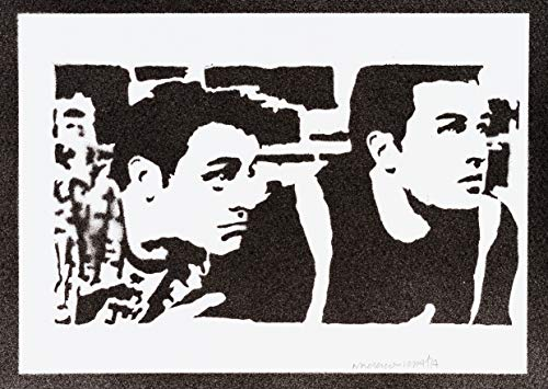 Póster Friends Chandler y Joey Grafiti Hecho a...