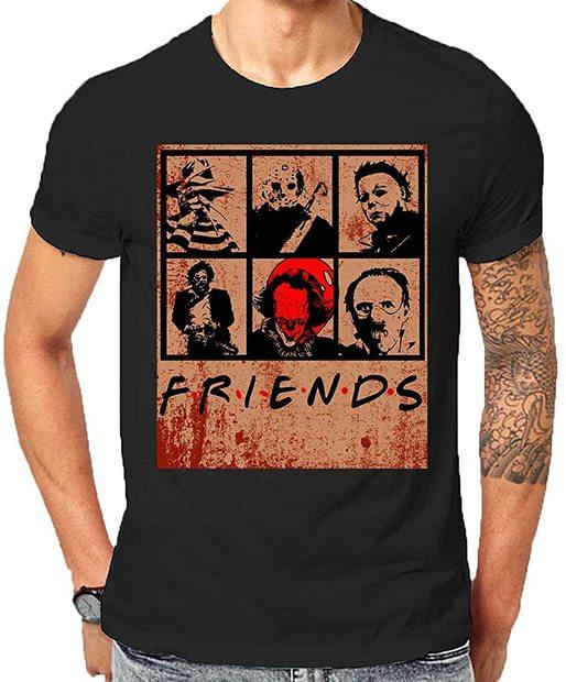 camiseta friends horror